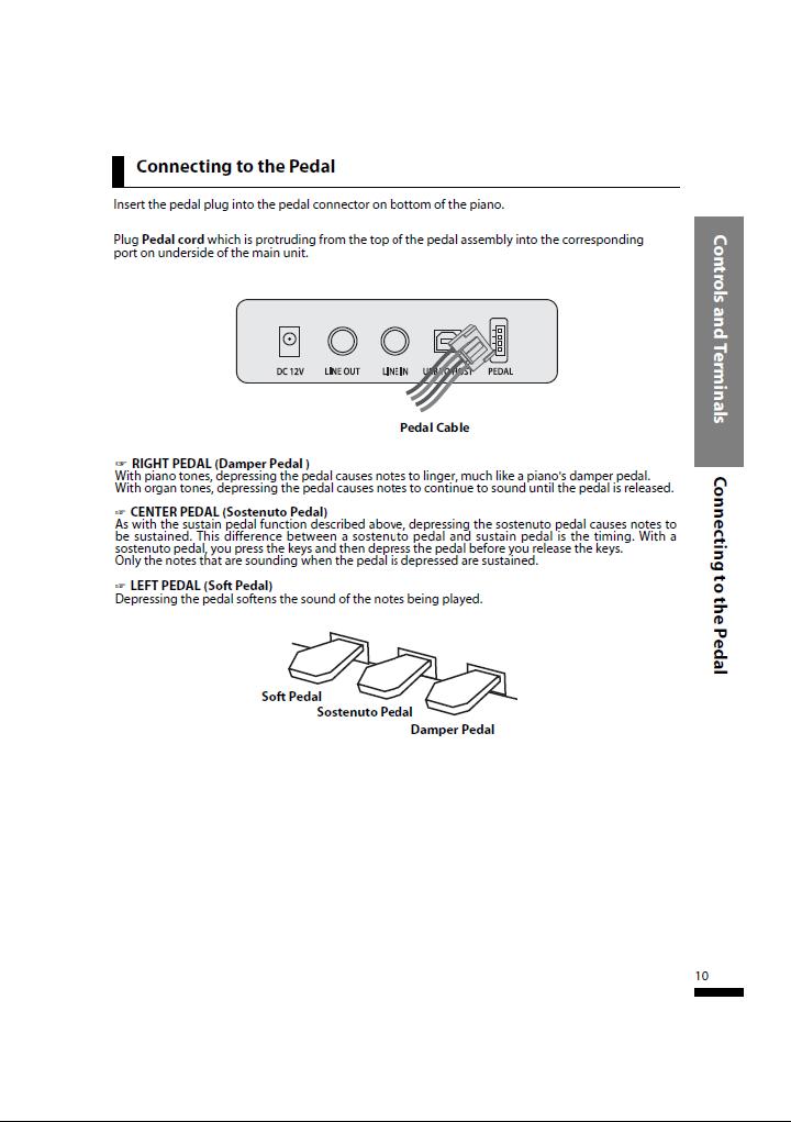 دفترچه راهنمای پیانو دیجیتال دایناتون مدل SLP-50 صفحه 10