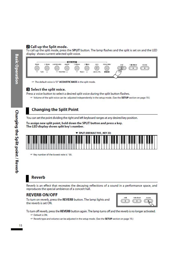 دفترچه راهنمای پیانو دیجیتال دایناتون مدل SLP-50 صفحه 15