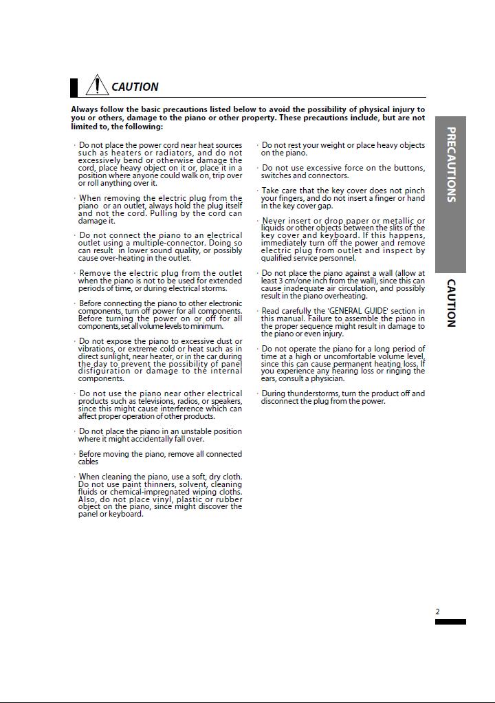 دفترچه راهنمای پیانو دیجیتال دایناتون مدل SLP-50 صفحه 02