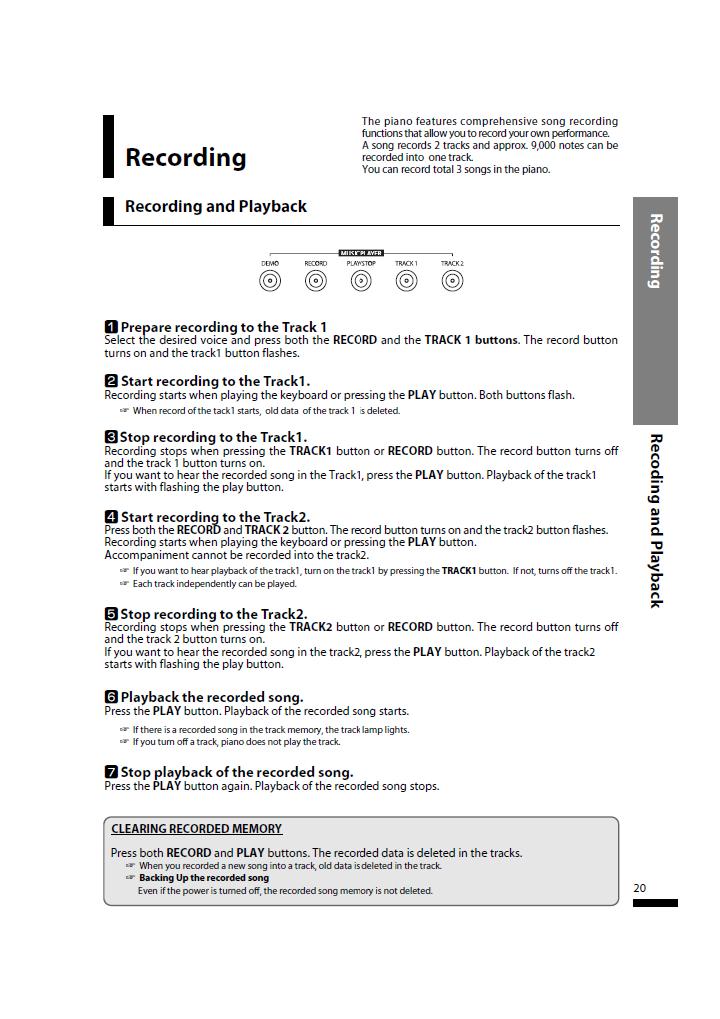 دفترچه راهنمای پیانو دیجیتال دایناتون مدل SLP-50 صفحه 20