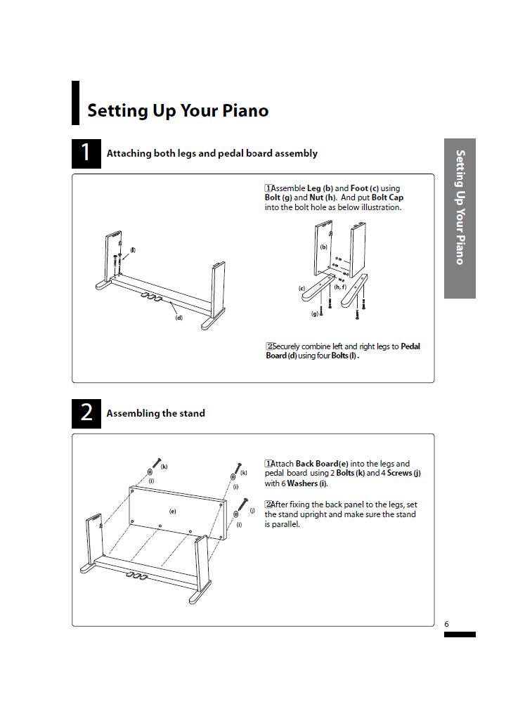 دفترچه راهنمای پیانو دیجیتال دایناتون مدل SLP-50 صفحه 06