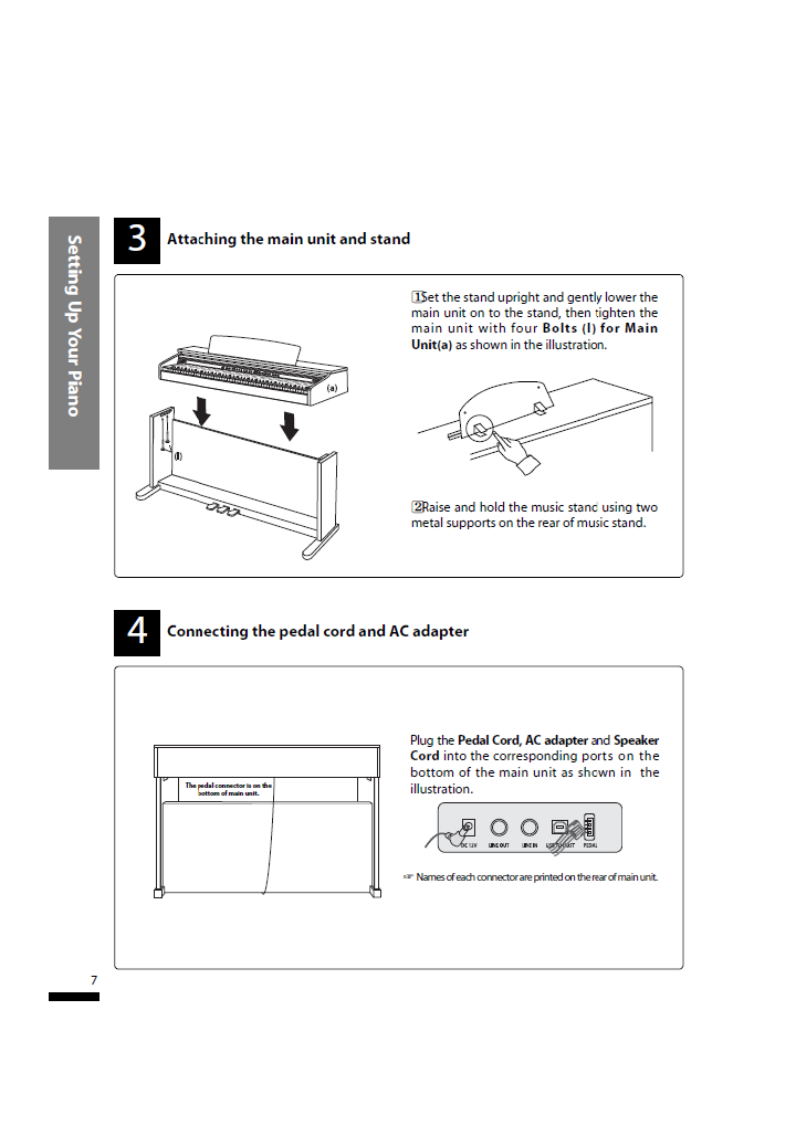 دفترچه راهنمای پیانو دیجیتال دایناتون مدل SLP-50 صفحه 07