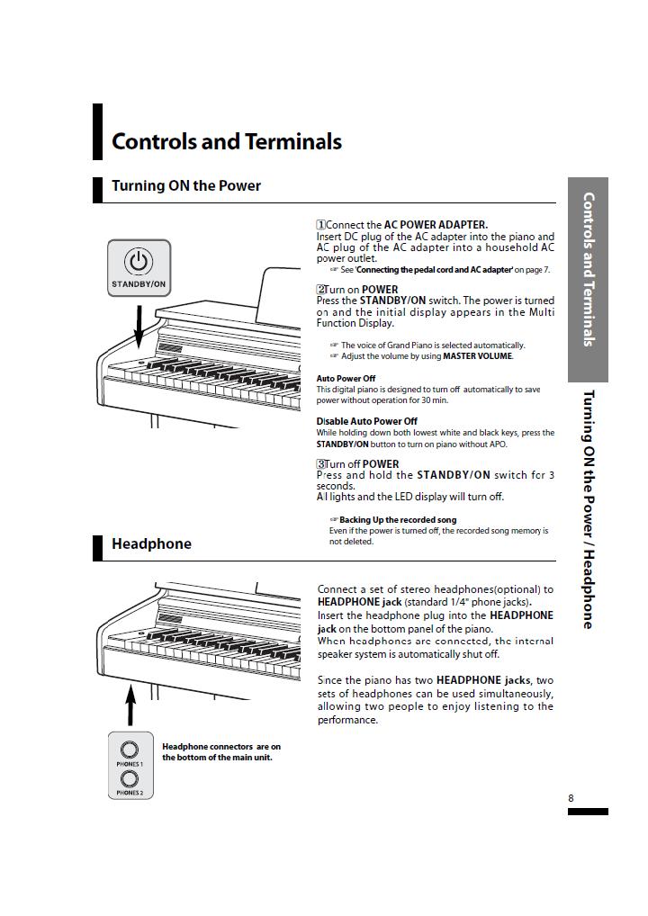 دفترچه راهنمای پیانو دیجیتال دایناتون مدل SLP-50 صفحه 08