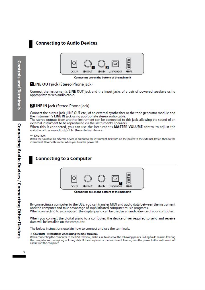 دفترچه راهنمای پیانو دیجیتال دایناتون مدل SLP-50 صفحه 09